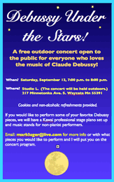 Debussy Under the Stars concert in Wayzata on September 13, 2014