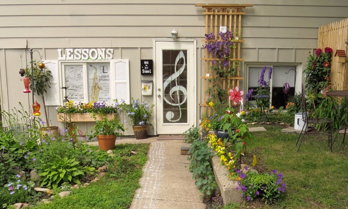 Mark Luger's private music studio in Wayzata, MN.