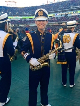Vince Sellner in Notre Dame marching band